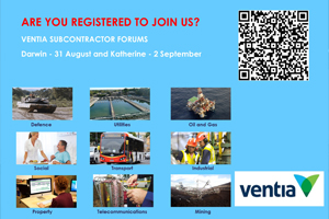 Ventia Subcontractor Forums – Katherine and Darwin